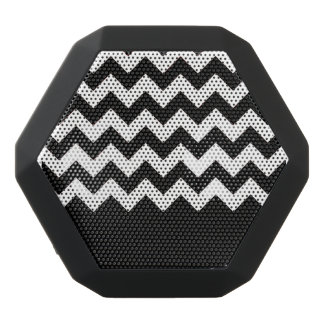 Zig Zag and Solid Pattern Black Bluetooth Speaker