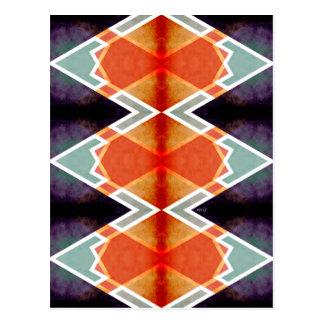 Zig Zag Angles 6 Postcard