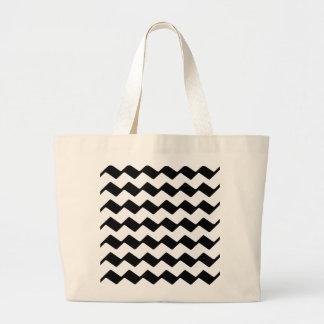 Zig Zag - Black Tote Bags