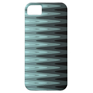 Zig Zag Black Teal Gray Pattern Barely There iPhone 5 Case