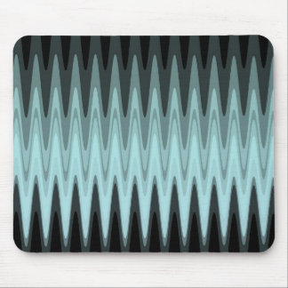Zig Zag Black Teal Gray Pattern Mouse Pad