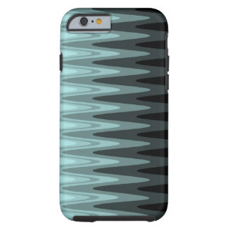 Zig Zag Black Teal Gray Pattern Tough iPhone 6 Case