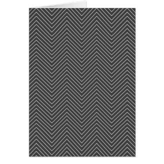 Zig Zag - Black & White Card