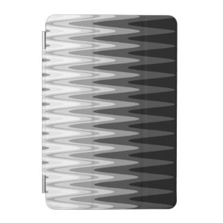 Zig Zag Black White Gray Pattern iPad Mini Cover