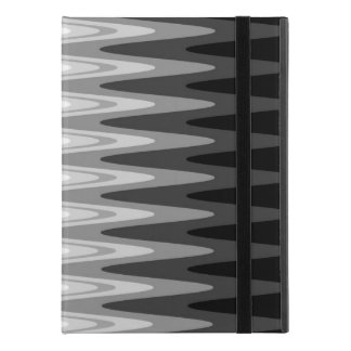 "Zig Zag Black White Gray Pattern iPad Pro 9.7"" Case"