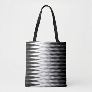 Zig Zag Black White Gray Pattern Tote Bag