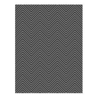 Zig Zag - Black & White Postcard