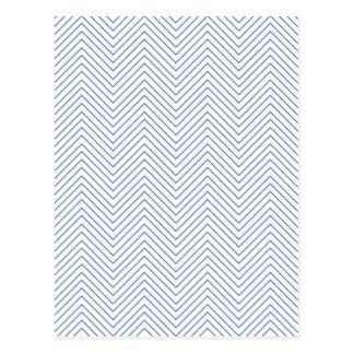 Zig Zag - Blue Postcard