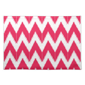 Zig zag elements  red white placemat