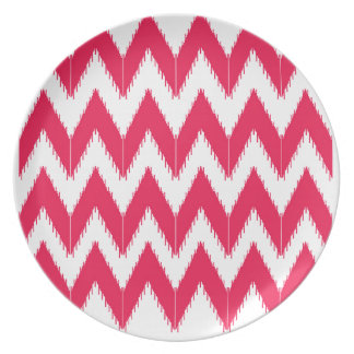 Zig zag elements  red white plate
