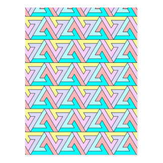 zig zag gentle colors postcards