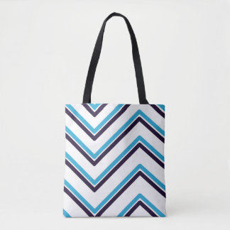 """Zig-Zag"" Geometric Design - Tote Bag"