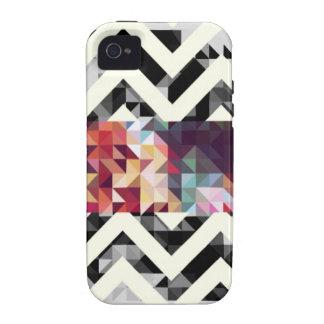 Zig zag Geometric Shapes iPhone 4 Case