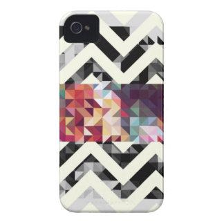 Zig zag Geometric Shapes iPhone 4 Cases