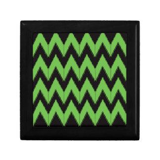 Zig zag green black inc gift box