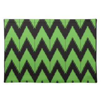 Zig zag green black inc placemat