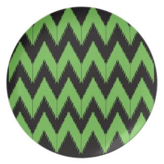 Zig zag green black inc plate
