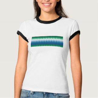 Zig Zag Green Blue Pattern T-shirt