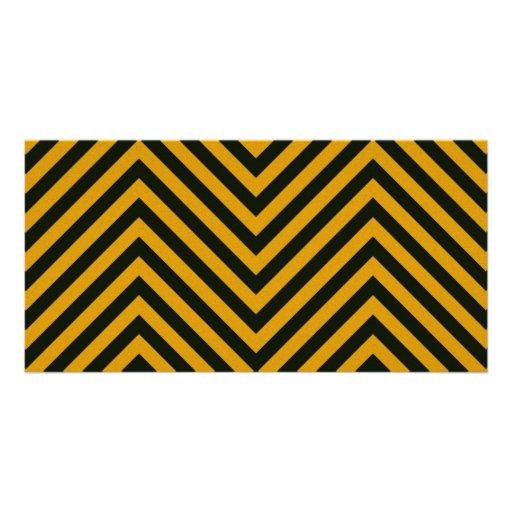 Zig Zag Hazard Striped Photo Card