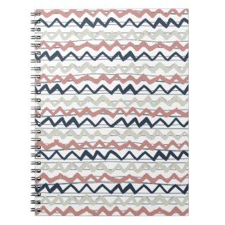 zig zag lines geometric pattern spiral notebooks