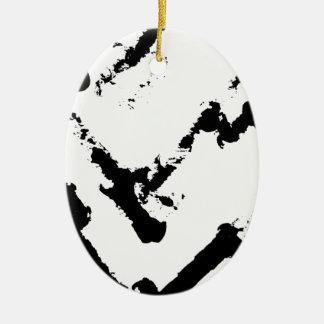 zig-zag match sticsk's ceramic oval decoration