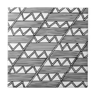 Zig Zag Pattern Ceramic Tile