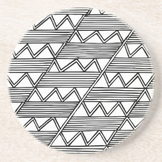 Zig Zag Pattern Coaster