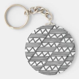 Zig Zag Pattern Key Ring