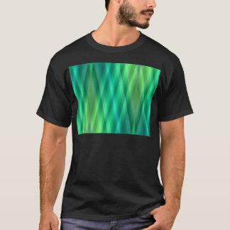 Zig Zag pattern light blue and green 2 by Tutti T-Shirt