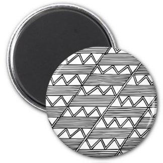 Zig Zag Pattern Magnet