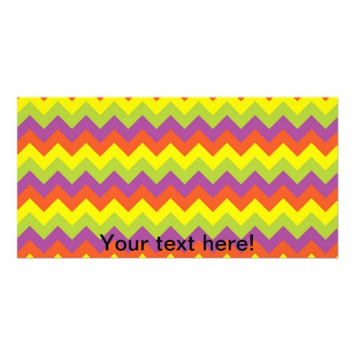 Zig zag pattern picture card
