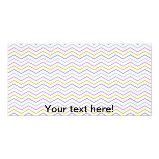 Zig zag pattern photo cards