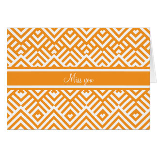 Zig zag pattern with name card