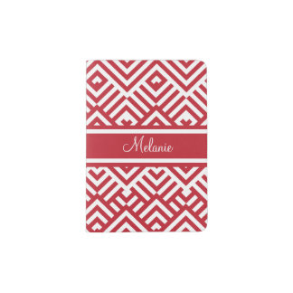 Zig zag pattern with name passport holder