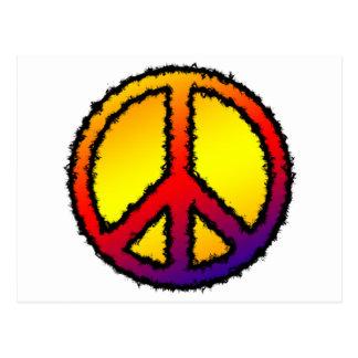 Zig Zag Peace Postcard