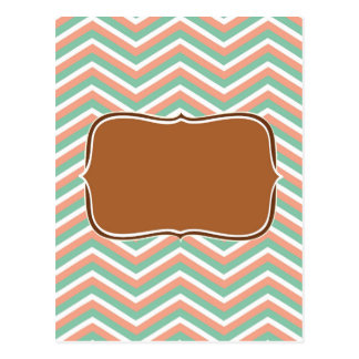 zig zag, peach post card