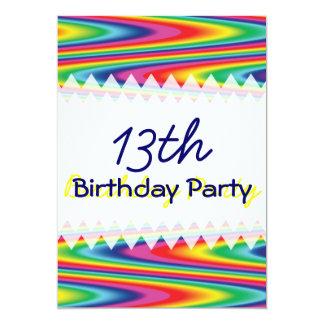Zig Zag Rainbow Birthday Card