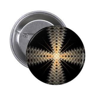 Zig Zag Rays of Light Fractal Art Pins