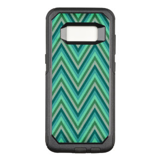 Zig Zag Striped Background OtterBox Commuter Samsung Galaxy S8 Case