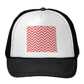 Zig Zag Striped Red White Pattern Qpc Template Trucker Hat