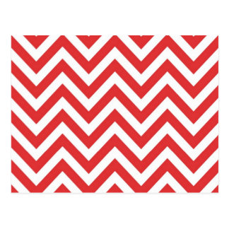 Zig Zag Striped Red White Pattern Qpc Template Postcard