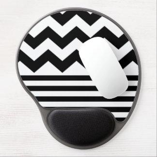 Zig-Zag & Stripes B&W Gel Mousepad.