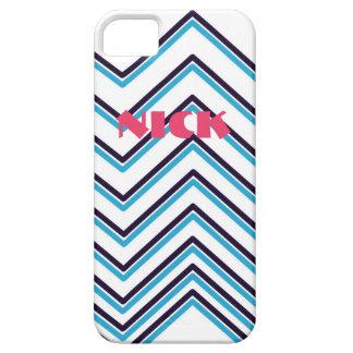 """Zig-Zag Stripes"" Contemporary Design iPhone 5 Cover"