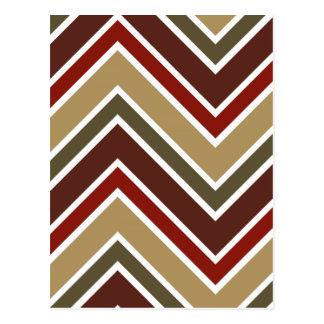 Zig zag stripes pattern postcard