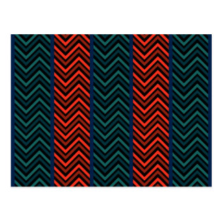 Zig Zag,Stripes Post Card
