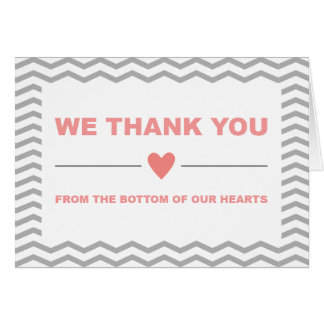 Zig Zag Thank You Cards in Coral
