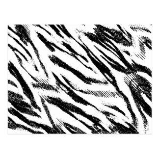 Zig-Zag Zebra Print Postcard