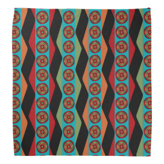 Zig Zags and Circles Bandana