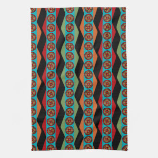 Zig Zags and Circles Kitchen Towel