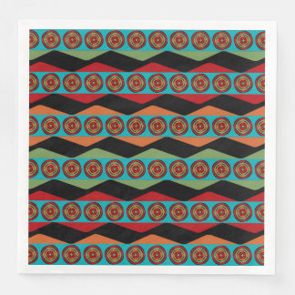 Zig Zags and Circles Napkins Disposable Serviette